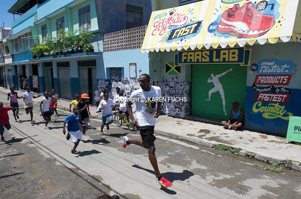 Usain Bolt Puma Fastlaab Shoot in Kingston, Jamaica October 2010