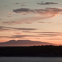 """Mount Susitna, """"Sleeping Lady"""", from Anchorage"""