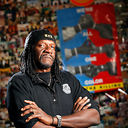 "SHOT 12/15/09 11:38:52 AM - Rev. Leon Kelly, 56, is the executive director of the Open Door Youth Gang Alternatives in Denver, Co. Kelly mentors some 200 at-risk youths daily focusing on prevention and the after-school program he runs located at Wyatt-Edison Charter School. He has been trying to break the cycle of violence and gang involvement for more than 25 years. At one point Kelly did prison time of his own, but he was inspired to turn around his life and those of others. He added, ""that sort of inspired me to know there's a way of changing someone else's life. I got the power or the influence to lead them one way or another."". (Photo by Marc Piscotty / © 2009)"