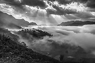 Vietnam Images-landscape-black and white-sapa