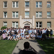 DeSmet Hall year-end group photo. (Photo by Gonzaga University)
