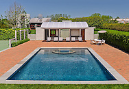 Swimming Pool, Modern Home, Daniels Lane, designed by Charles Gwathmey, Sagaponack, New York
