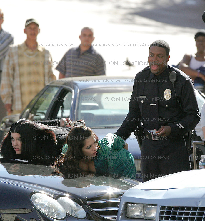 February 2nd 2007 Los Angeles, California. Chris Tucker films a scene for Rush Hour 3. Photo by Eric Ford 818-613-3955 info@onlocationnews.com