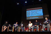May 7, 2012- New York, NY United States: - (L-R) Producer Alia M. Jones, Producer Stephen Byrd, Actor Wood Harris, Actress Nicole Ari Parker, Actor Blair Underwood, and Dr. Michael Eric Dyson attend the Theater Talks at the Schomburg: A Streetcar Named Desire held at the Schomburg Center for Research in Black Culture, part of the New York Public Library on May 7, 2012 in Harlem Village, New York City. The Schomburg Center for Research in Black Culture, a research unit of The New York Public Library, is generally recognized as one of the leading institutions of its kind in the world. For over 80 years the Center has collected, preserved, and provided access to materials documenting black life, and promoted the study and interpretation of the history and culture of peoples of African descent.  (Photo by Terrence Jennings) .