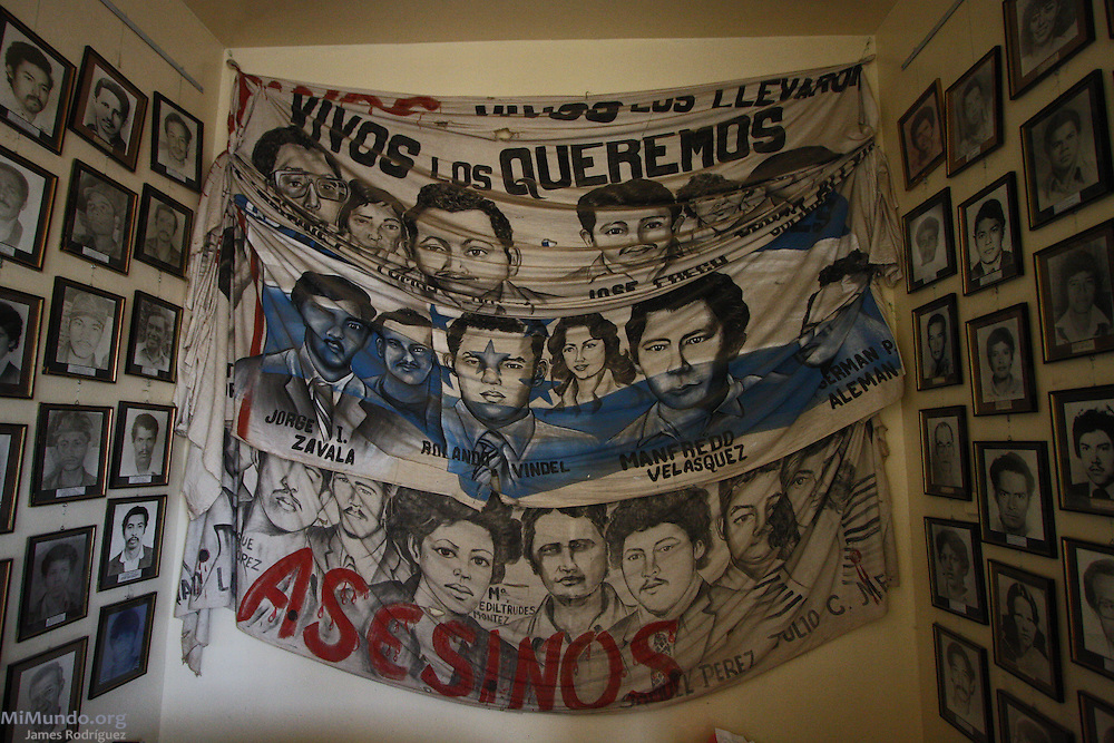Hall of Living Memories, Office of the Committee of Relatives of the Detained-Disappeared of Honduras (COFADEH), July 2009.