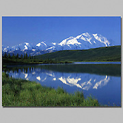Alaska. Denali NP. Mt McKinley(20,320) the tallest mountain in North America, Wonder Lake