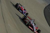 Darren Manning and Kosuke Matsuura at the Nashville Superspeedway, Firestone Indy 200, July 16, 2005