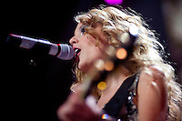 Taylor Swift performs at the 2009 Z100's Jingle Ball at Madison Square Garden in New York. ..(Photo by Robert Caplin).