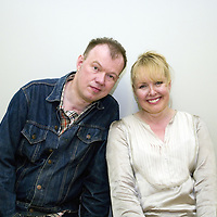 Edwyn Collins and Grace Collins<br /> On stage at the Stoke Newington Literary Festival. 5 June 2010<br /> <br /> Picture by David X Green/Writer Pictures