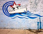 Playa walls and signs.