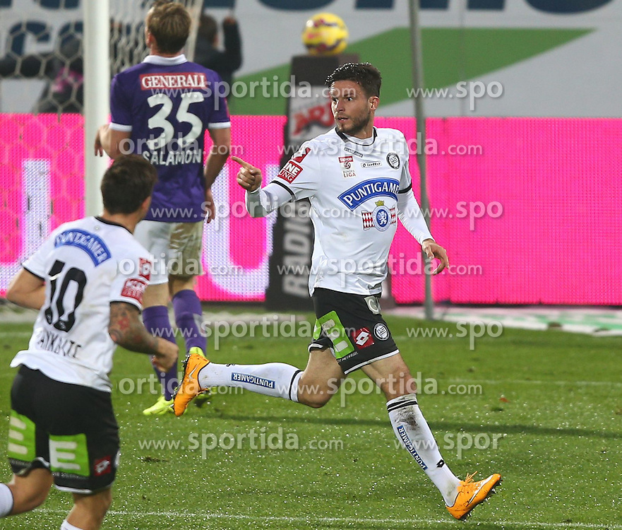 01.11.2014, Generali Arena, Wien, AUT, 1. FBL, FK Austria Wien vs SK Puntigamer Sturm Graz, 14. Runde, im Bild Marko Stankovic (SK Puntigamer Sturm Graz), fak35 und Torjubel von Marco Djuricin (SK Puntigamer Sturm Graz) // during Austrian Football Bundesliga Match, 14th Round, between FK Austria Vienna and SK Puntigamer Sturm Graz at the Generali Arena, Vienna, Austria on 2014/11/01. EXPA Pictures © 2014, PhotoCredit: EXPA/ Thomas Haumer