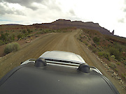 SHOT 5/7/16 9:54:09 AM - GoPro footage and stills of the Mag 7 trail, Fisher Towers and the bike trail along Highway 128 in Moab. Moab is a city in Grand County, in eastern Utah, in the western United States. Moab attracts a large number of tourists every year, mostly visitors to the nearby Arches and Canyonlands National Parks. The town is a popular base for mountain bikers and motorized offload enthusiasts who ride the extensive network of trails in the area. (Photo by Marc Piscotty / © 2016)