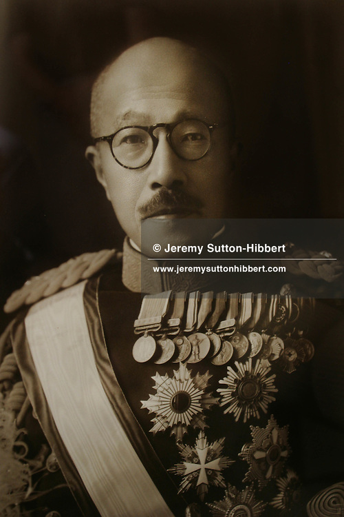 General Hideki Tojo, Japans WW2 prime minister. Hideki Tojo was executed in 1948 after being found guilty of war crimes.