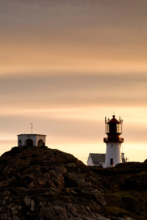 Sunset at Lindesnes lighthouse.