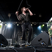Iceage performs at Pitchfork Music Festival.