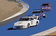 Image of cars racing at the Rennsport Reunion