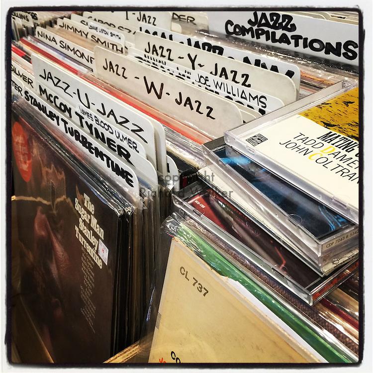 2016, Richard Walker, Seattle, WA, USA, Instagram, Apple, phone, iPhone, app, September, Easy Street, records, bin, jazz, recordings, business, commerce, store, vintage, old, valueable, music, sound, tunes, McCoy, vinyl,