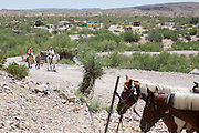 Tourists from Big Bend National Park arrive in Boquillas del Carmen.