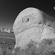 Mormon Rocks - High Outcrop - Elevated Northwest View - Infrared Black & White