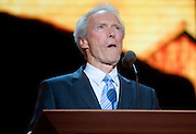 TAMPA, FL - August 30, 2012 - Clint Eastwood speaking on the RNC's final night.