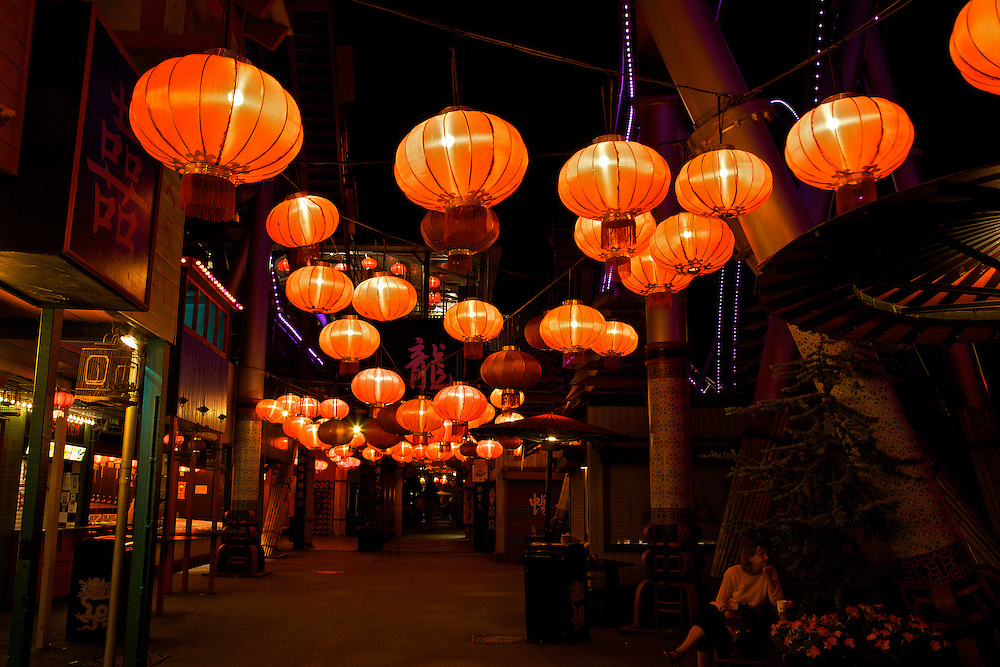 Chinese Lanterns At Tivoli Gardens In Copenhagen Rozanne