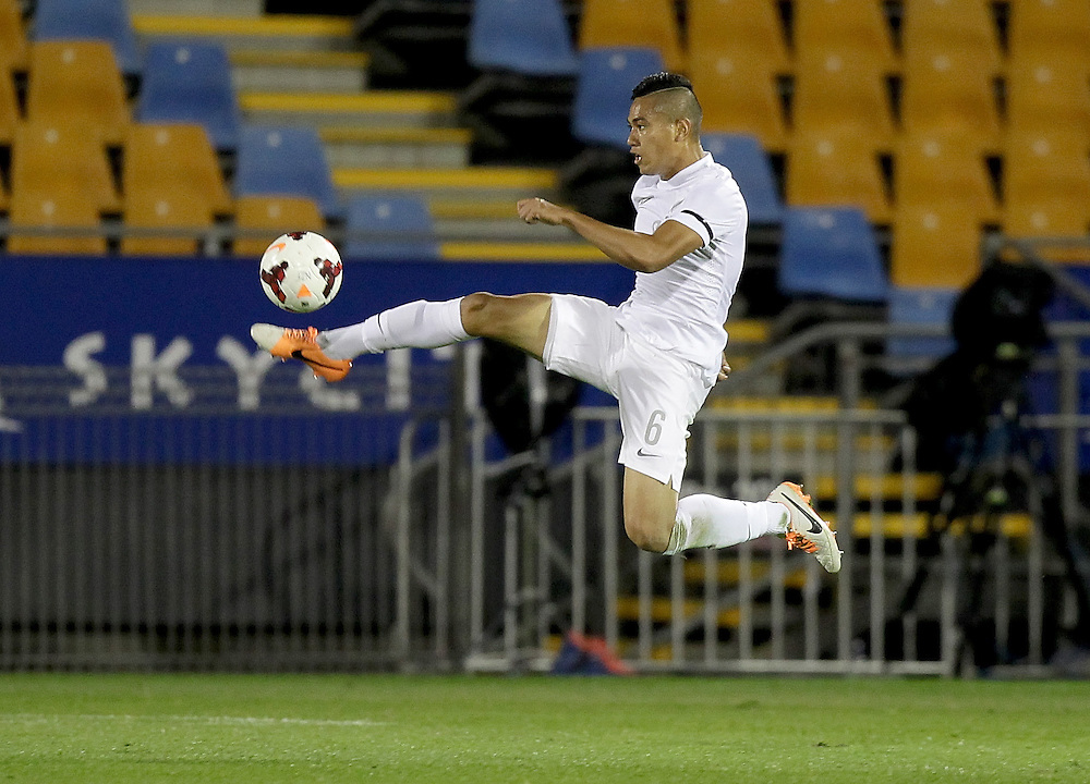 New Zealand's Bill Tuiloma in action against South Africa in an international football match, Mount Smart Stadium, Auckland, New Zealand, Friday, May 30, 2014.  Credit:SNPA / David Rowland