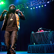 SILVER SPRING, MD - January 1st, 2012 - Rapper and D.C. native Wale performs with DJ 5'9 at the Fillmore Silver Spring in Silver Spring, MD. Wale released his sophomore album, Ambition, in November. (Photo by Kyle Gustafson/For The Washington Post).