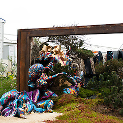 LONDON, UK - 21 May 2012: Glamourlands - A techno folly stand, designed by Tony Heywood & Alison Condie at the RHS Chelsea Flower Show 2012.
