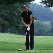 Austin Barbin prepares to tees off on the eighth hole during the boys 2015 Delaware junior championship at Chesapeake Bay Golf Club Thursday, July 03, 2015, in Rising Sun, Maryland.