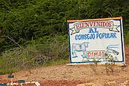 Farm sign in the Macurije area, Pinar del Rio, Cuba.