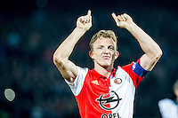ROTTERDAM - Feyenoord - AZ , Voetbal , Seizoen 2015/2016 , Halve finales KNVB Beker , Stadion de Kuip , 03-03-2016 , Speler van Feyenoord Dirk Kuyt viert de overwinning