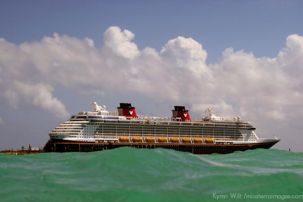Disney Fantasy Cruiseship viewed from water