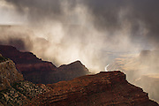 A late winter storm . Grand Canyon National Park.