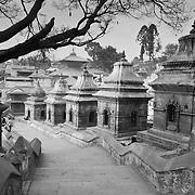 Steps leading up from Pashupati, Kathmandu, Nepal