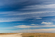 One of the largest wind energy projects in the world sits atop the Callahan Divide, south of Abilene and Sweetwater, Texas.