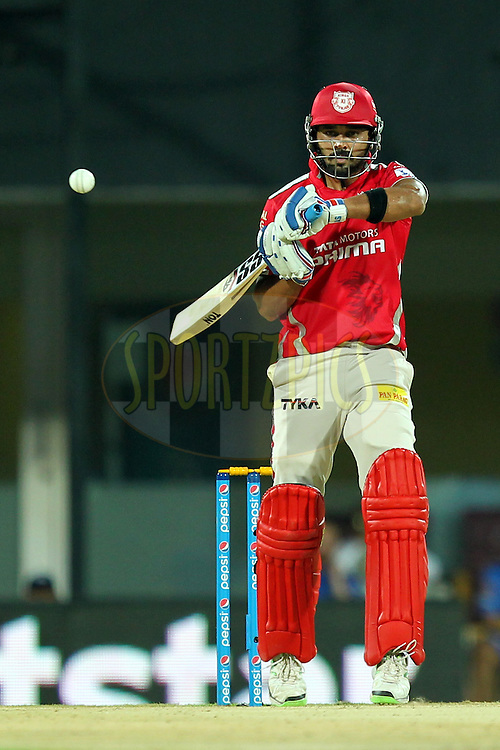 Murali Vijay of Kings XI Punjab during match 24 of the Pepsi IPL 2015 (Indian Premier League) between The Chennai Superkings and The Kings XI Punjab held at the M. A. Chidambaram Stadium, Chennai Stadium in Chennai, India on the 25th April 2015.Photo by:  Prashant Bhoot / SPORTZPICS / IPL