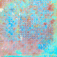 Abstract and colorful with an underlying pattern suggests the time-worn industrial origin of the  photograph that laid the foundation for this image.