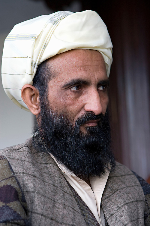 Mullah Mohammad Is'haq Nizami who is trying to engage the Taliban and Afghan Government in unofficial negotiations in Kabul, Afghanistan on the 28th of November 2007.