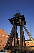 Uppsala, castle, art museum, wooden clocktower, clock Gunilla, Sweden, Uppland