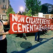 Scontri e proteste per l'ex Diatto