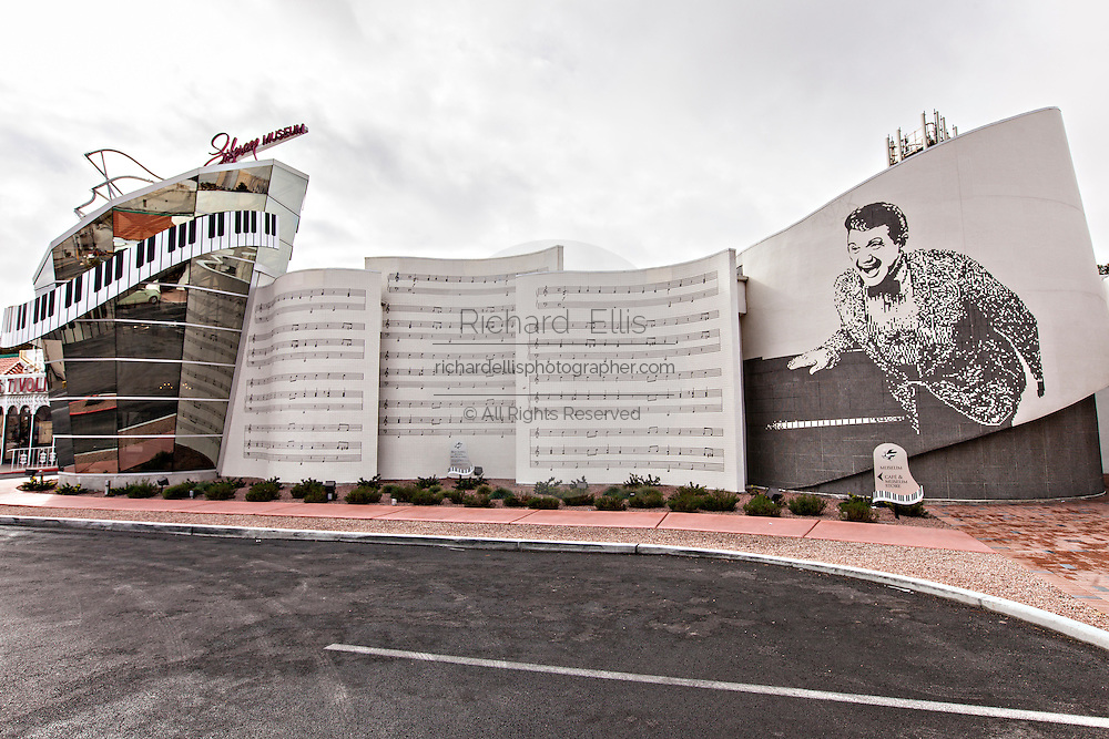 Exterior of the Liberace Museum in Las Vegas, NV.