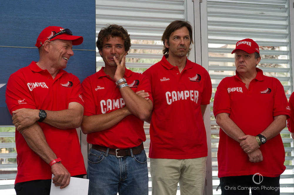 Grant Dalton, Roberto Bermudez de Castro, Marcelino Botin and Matteo de Nora at The Camper Volvo Ocean Race press conference. Barcelona. 22/7/2010