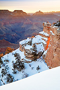 A winter's sunrise from Yaki Point on the South Rim of Grand Canyon National Park.