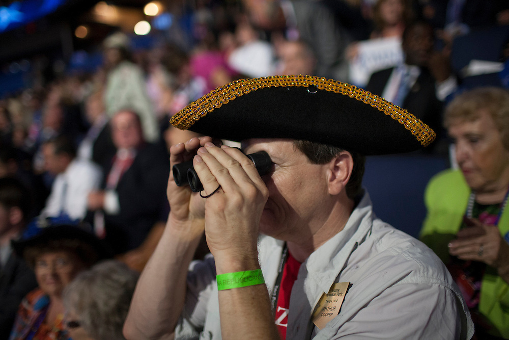 Spectators during Paul Ryan's speech at the RNC in Tampa, FL, on Wednesday, Aug. 29, 2012. ..Photograph by Andrew Hinderaker for TIME.