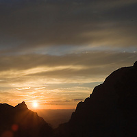 Sunset through the Window View, Big Bend National Park, Texas