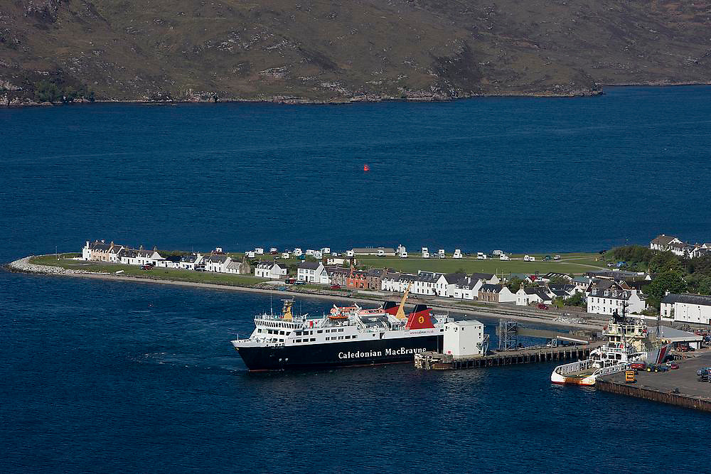 The MV Isle of Lewis berthed at Ullapool pier, Ullapool, N/W Highlands
