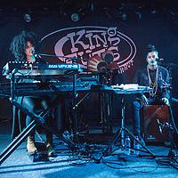 Lisa-Kainde Diaz and Naomi Diaz of Ibeyi on stage at King Tuts on November10, 2015 in Glasgow, Scotland.