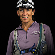 Portrait of ultra marathon runner Rebekah Trittipoe from Bedford, VA,moments after completing the Grind Stone 100 Mile ultra marathon in Swoope, VA, Friday, Oct. 04, 2008...Gallup completed the race in 24 hours, 44 minutes and 29 seconds...The Grindstone is the hardest 100 mile race east of the 100th meridian. ...