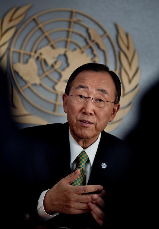 UN Secretary General Ban Ki-moon..Photographer: Chris Maluszynski /MOMENT