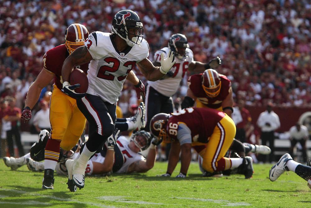 Landover, Md., Sept. 19, 2010 - Washington Redskins vs. Houston Texans -